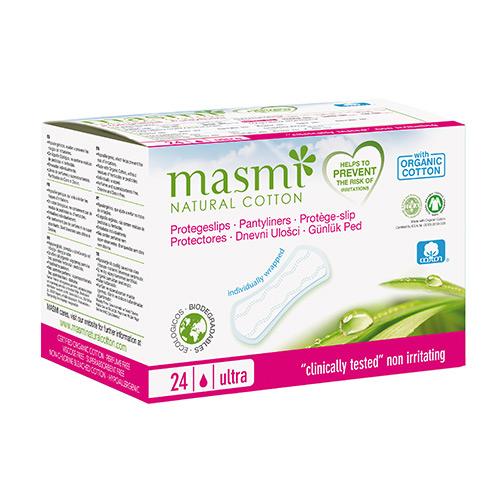masmi オーガニックコットン 超薄型 パンティーライナー(個包装)