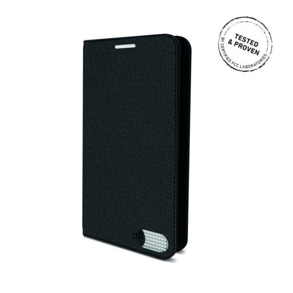 電磁波対策手帳型スマホケース  iPhone 7 (ブラック)