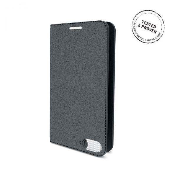 電磁波対策手帳型スマホケース  iPhone 7(グレー)