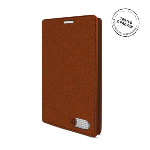 電磁波対策手帳型スマホケース  iPhone 7 (ブラウン)