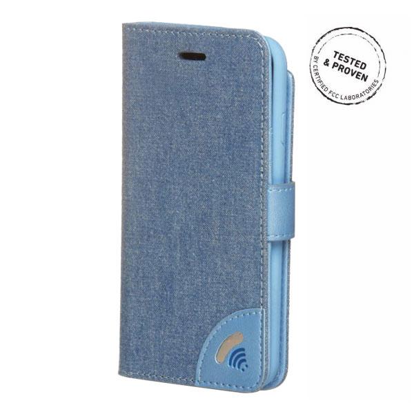 電磁波対策手帳型スマホケース  iPhone 7 (ジーンズ)