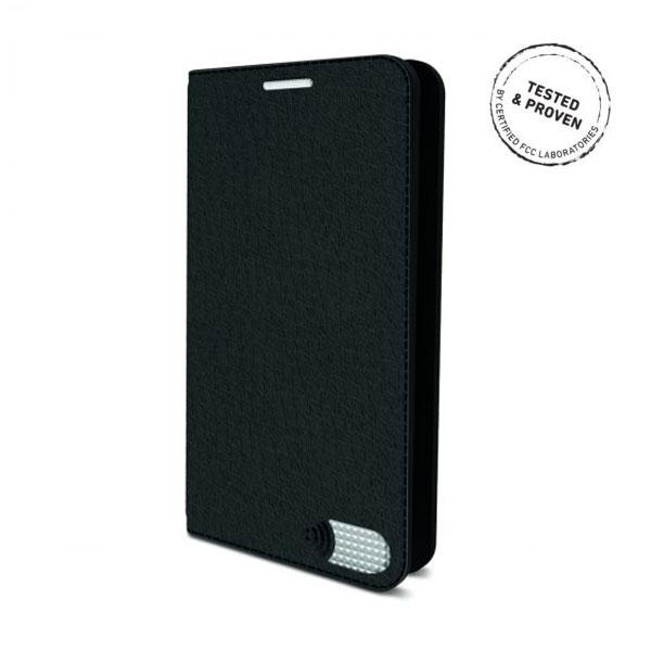 電磁波対策手帳型スマホケース  iPhone 7 Plus (ブラック)