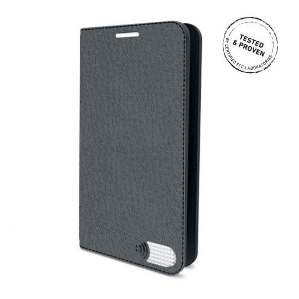 電磁波対策手帳型スマホケース  iPhone 7 Plus (グレー)