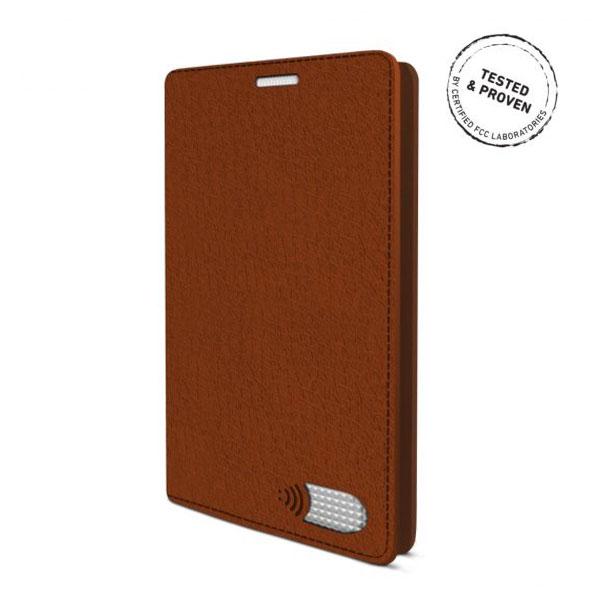 電磁波対策手帳型スマホケース  iPhone 7 Plus (ブラウン)